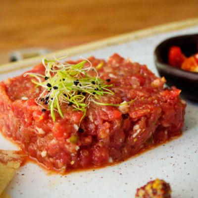 Steak tartar de solomillo de ternera